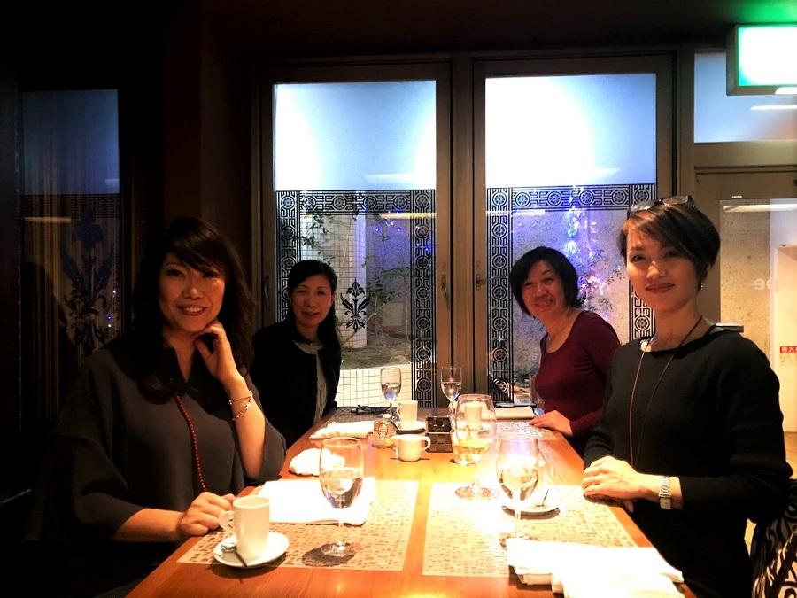 田崎由美子さんと神戸北野で会食