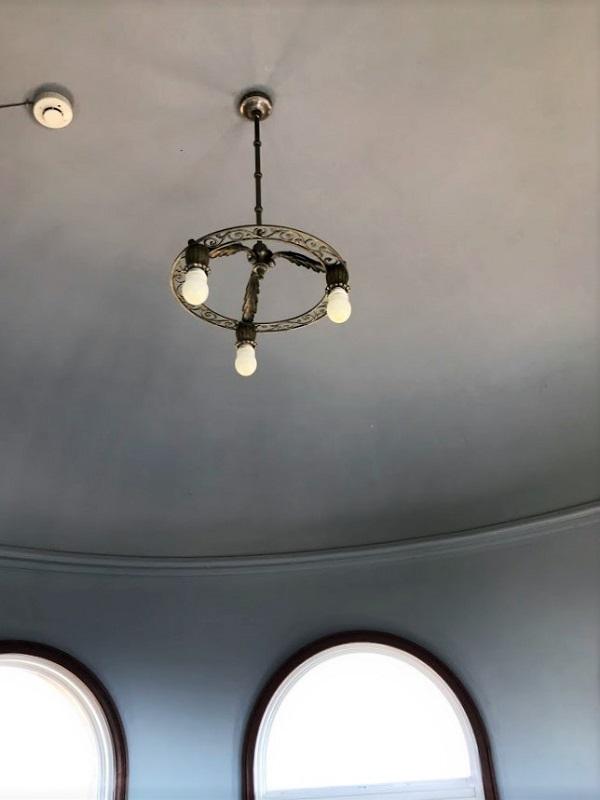 ジェームス邸展望台の照明