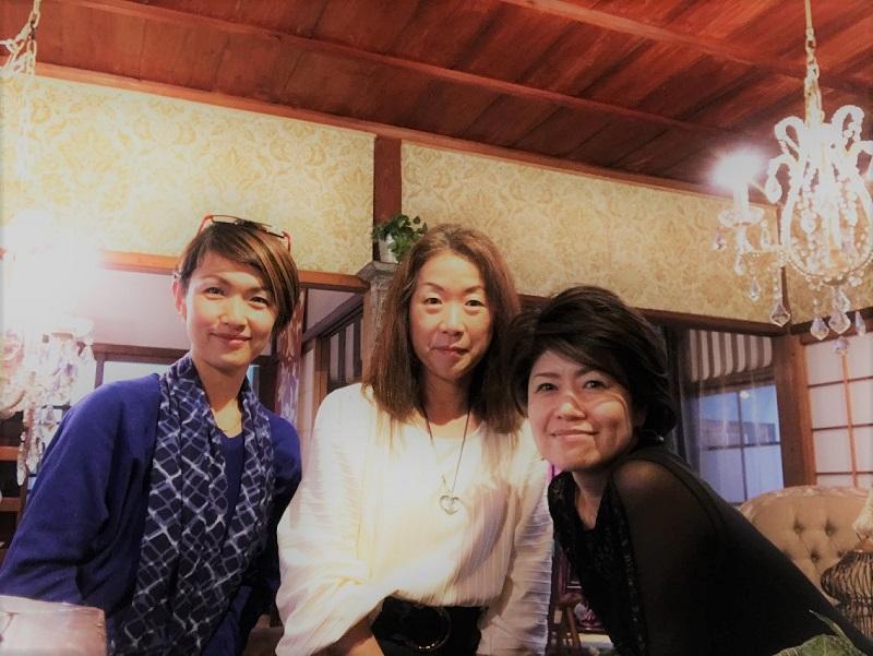 高砂ショウハウスにて岡田さんとカトリーヌ