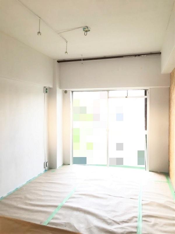 ジオインテリアワークス新事務所塗装中