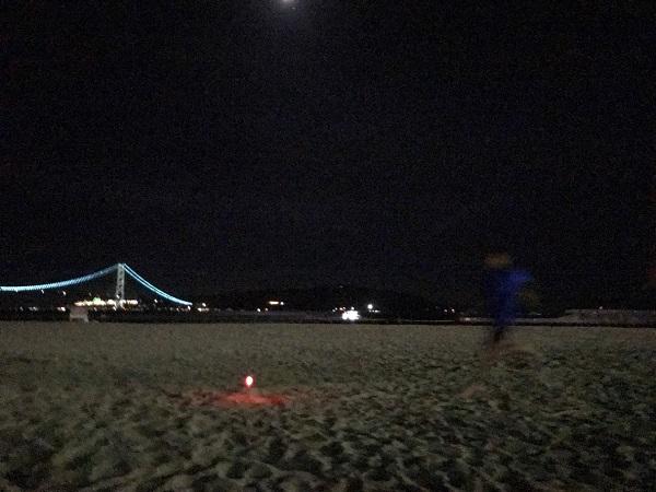 大蔵海岸でクリエイティ部ナイトバーベキューとビーチフラッグ大会