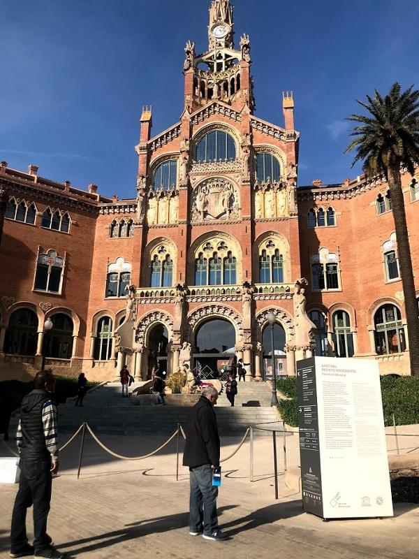 スペインバルセロナ サンパウ病院